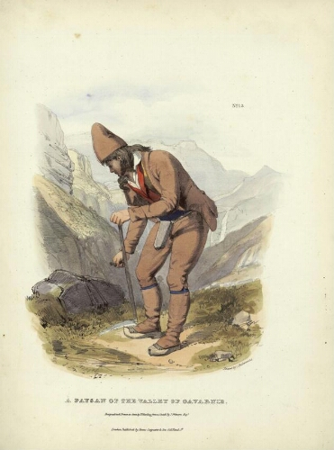 The Costumes of the French Pyrenees N° 13 – A Paysan of the Valley of Gavarnie