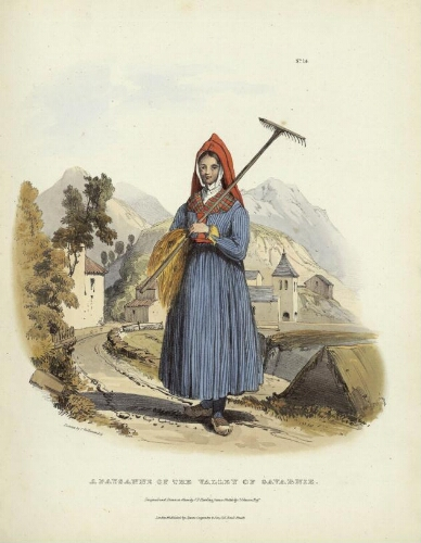 The Costumes of the French Pyrenees N° 14 – A Paysanne of the Valley of Gavarnie